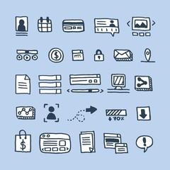 Doodles website elements