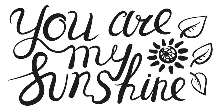 You are my sunshine inspirational guote.