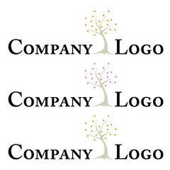 Company logo template with stylized tree