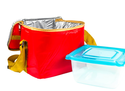food storage red insulated bag