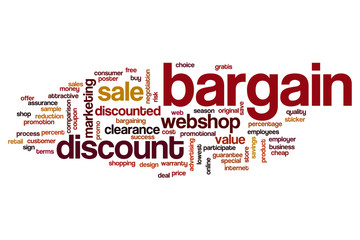 Bargain word cloud concept
