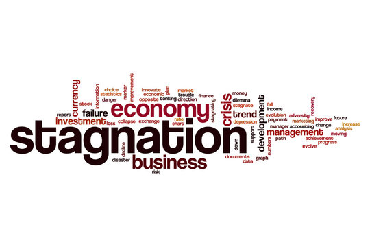 Stagnation word cloud concept