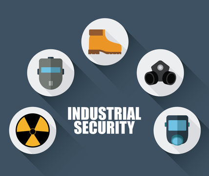 boots mask biohazard icon. Industrial Security. Colorfull Vector illustration
