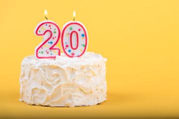 Twentieth birthday cake