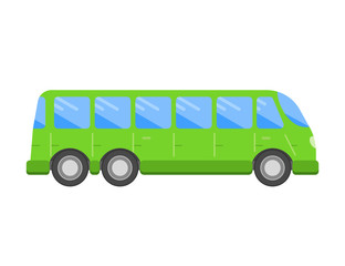 Bus flat icon . Vector design.