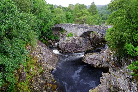 The Telfod Bridge at Invermoriston Village, inverness, Scotland.