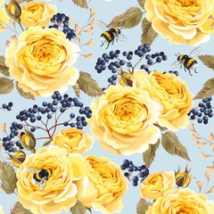 Seamless vintage flowers