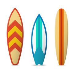 Wall Mural - Vector color surfboard set