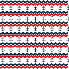 Fond de hotte en verre imprimé Hibou anchor marine symbol pattern icon