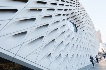 The Broad, a new contemporary art in downtown city Los Angeles.