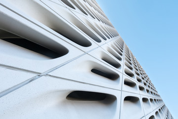 Nice exterior design detail of The Broad, a new contemporary art in downtown Los Angeles.