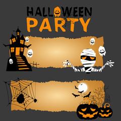 Vector Halloween magic banners vector/Illustration