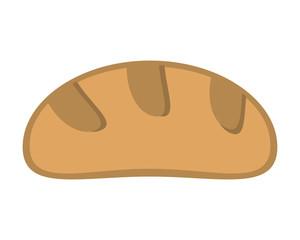 flat design bread loaf icon vector illustration