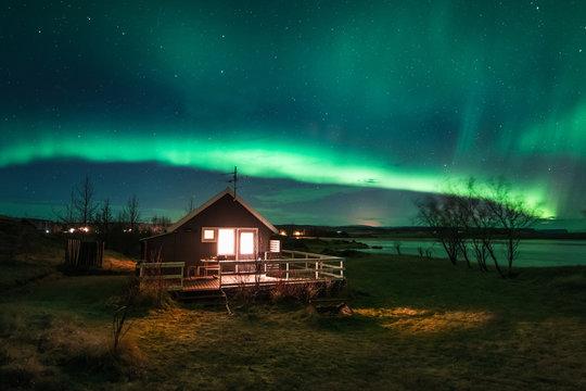 Landscape Iceland Cabin