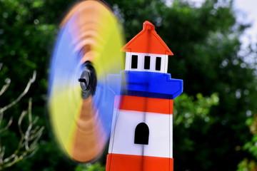 künstlerische Vielfalt im Fokus - Fotokunst, Windmühle, Licht und Pinsel