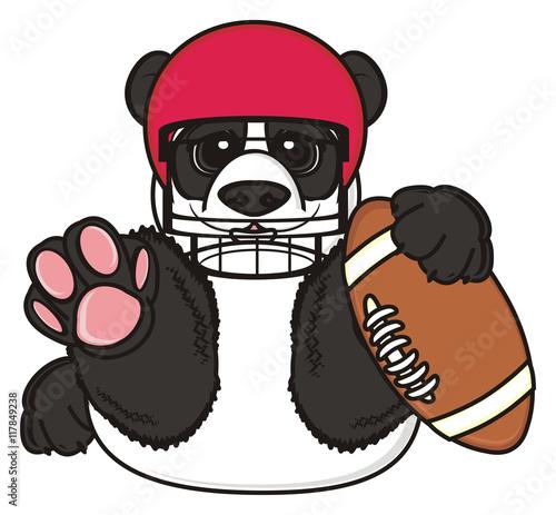 Quot American Football Rugby Helmet Panda Animal Zoo