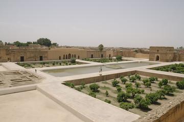 El Badi Palace gardens at Marrakech, Morocco