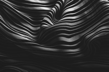 Abstract Lines Black and White