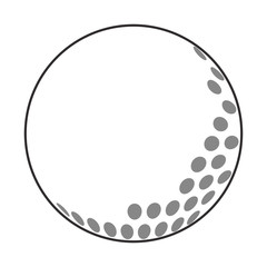 flat design golf ball icon vector illustration