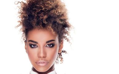Beauty portrait of elegant african american woman. Wall mural