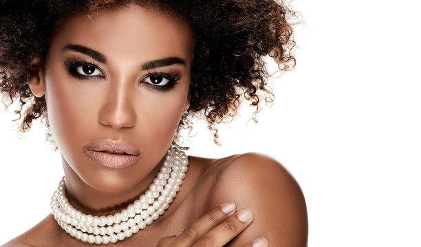 Beauty portrait of elegant african american woman.