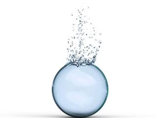 Blue shattered glass ball - 3D Illustration
