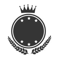 badge vintage shield icon vector illustration
