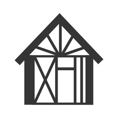 house under construction building vector graphic isolated and flat