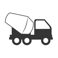 concrete mixer truck construction vector graphic isolated and flat illustration