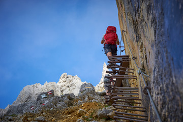 stairway to heaven / mountaineering on ellmauer halt in Austria