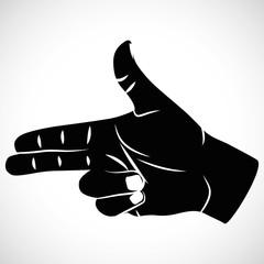 Icon hand sign pistel