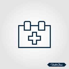 First aid icon set for websites and apps