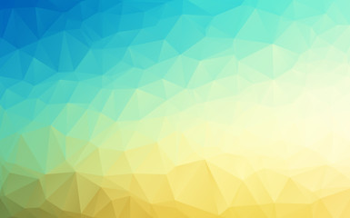 Vector Geometrical polygon abstract background blue to sand color