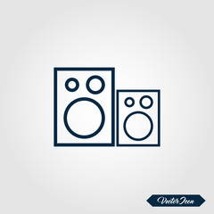 Audio speaker icon for apps and websites