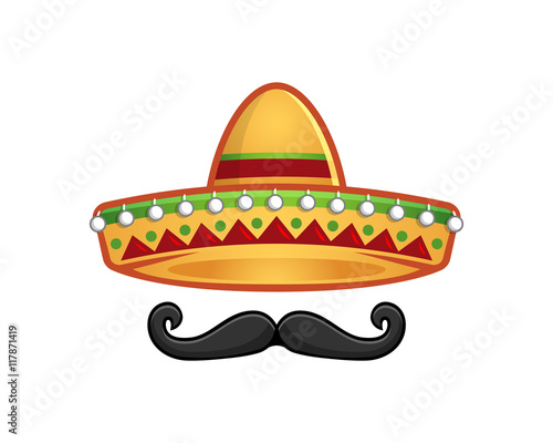 """""""Sombrero and mustache icon"""" Stock image and royalty-free vector files on Fotolia.com - Pic ..."""