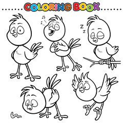 Cartoon Coloring Book - Bird