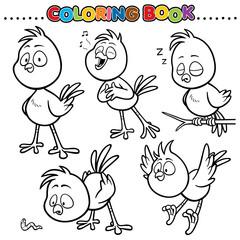 Cartoon Coloring Book - Bird