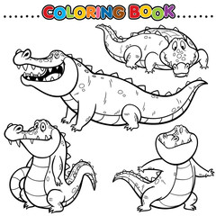 Cartoon Coloring Book - Crocodile