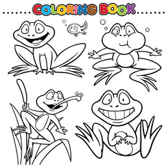 Cartoon Coloring Book - Frog