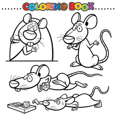 Cartoon Coloring Book - Rat