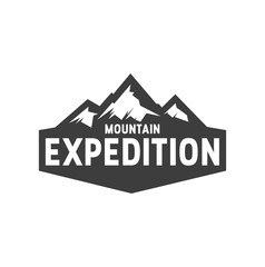 Outdoor logo mountain design vector