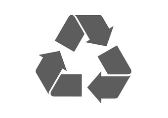 Recycle icon vector.