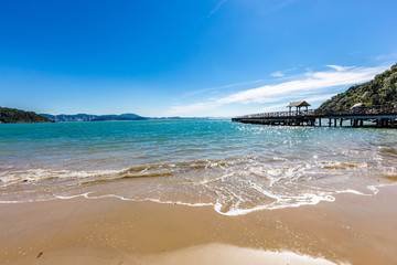 View of Laranjeiras Beach, Balneario Camboriu. Santa Catarina