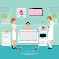 ECG Test or The Cardiac Test.