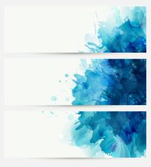 Blue watercolor blot.