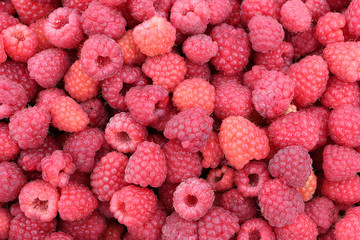 Ripe berries of raspberry, natural background