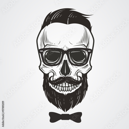 Bearded Skull Illustration Stock Image And Royalty Free Vector