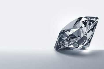 Diamond isolated on white background with copy space, 3d illustration.