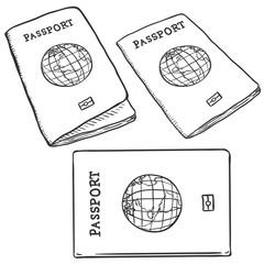 Vector Set of Sketch Passports