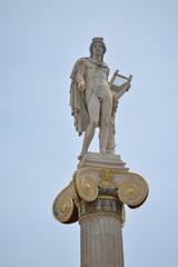 Apollo's marble statue (Neoclassic period) upon a ionic column